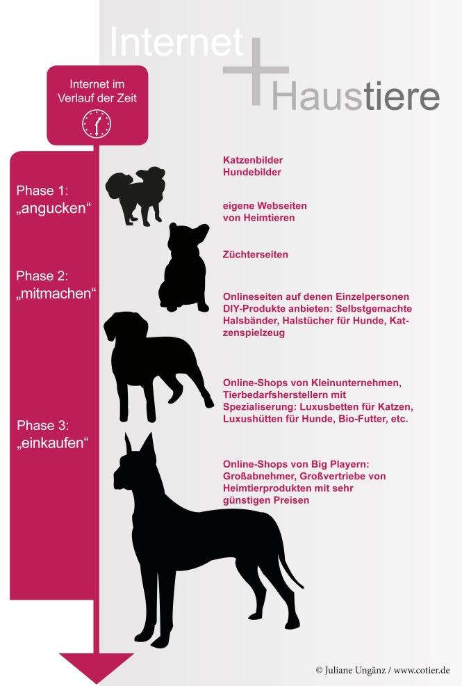Infographik Haustiere Internet